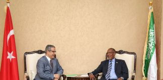 Somaliland President Muse Bihi Abdi recieves Turkey's new Special envoy to Somalia and Somaliland talks Dr. Olgan Bekar at presidential palace