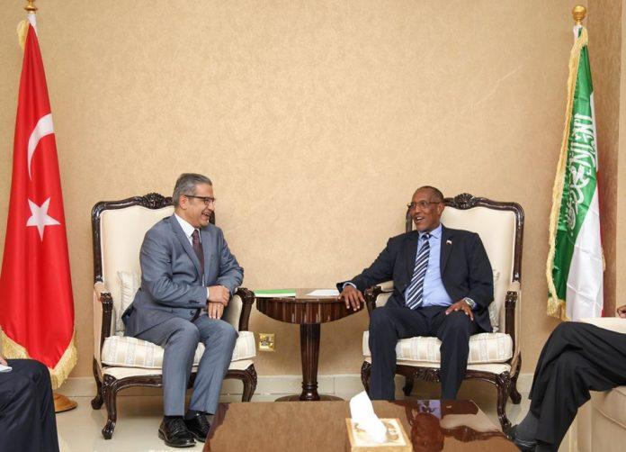 Somaliland President Muse Bihi Abdi recievesTurkey's new Special envoy to Somalia and Somaliland talksDr. Olgan Bekar at presidential palace