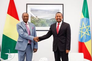 The signing of the strategic partnership agreement was witnessed by Ethiopian Prime Minister Dr. Abiy Ahmed and President Alpha Condé ofthe Republic of Guinea