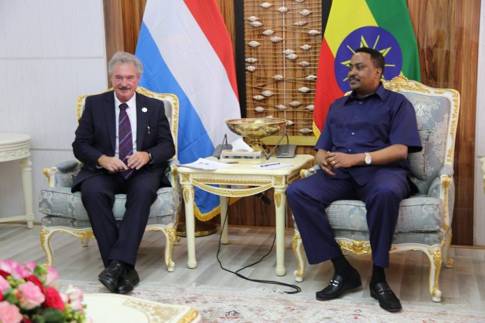 meeting between Minister of Foreign Affairs, Dr. Workneh Gebeyehu and the Foreign Minister of Luxembourg, Jean Assselborn today