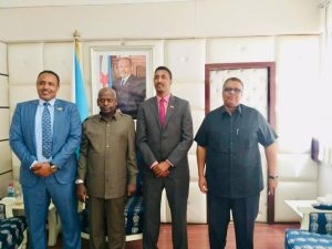 Djibouti Prime MinisterAbdulkadir M Kamil receives Somaliland Ministerial-level delegation led by the Defence Minister Isse Ahmed