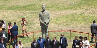 The Commemorative Statue of Emperor Haile Selassie Unveiled At AU Premises