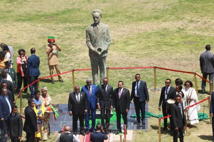 The Commemorative Statue of Emperor Haile Selassie Unveiled At AU Premises