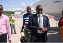 Somalia Ambassador to Kenya Mohamoud Ahmed Nur alias Tarzan has arrived today in the capital of Mogadishu,