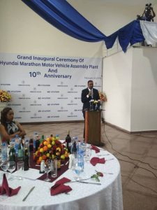 Foreign Minister H.E. Dr. Workneh Gebeyehu inaugurated Hyundai Marathon Motor Vehicle Assembly Plant in Addis Ababa today