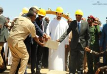The President of Somaliland Muse Bihi Abdi and Somali region of Ethiopia Preisdent Mustafa Muhumed Omar  inaugurated the 245km road construction linking Berbera port to Ethiopia on Thursday.