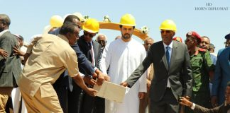 The President of Somaliland Muse Bihi Abdi and Somali region of Ethiopia Preisdent Mustafa Muhumed Omar inaugurated the 245km road construction linking Berbera port to Ethiopia on Thursday.