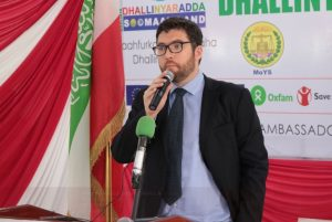 The Head of British FCO in Somaliland Stuart Brown attends the National youth day