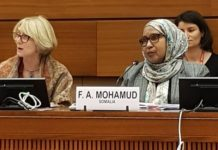 Somalia Ambassador to UN Human Rights Council Faduma Abdullahi Mohamed