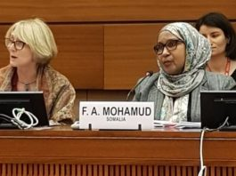 Somalia Ambassador to UN Human Rights Council Faduma Abdullahi Mohamed