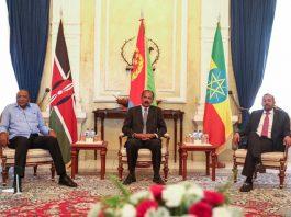 Kenya, Ethiopia leaders arrive in Eritrea capital of Asmara for a tripartite summit