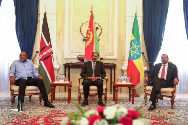 Kenya, Ethiopia leaders arrive in Eritrea capital of Asmara for a tripartite summit