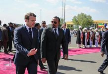 President Emmanuel Macron Arrives in Lalibela for a Two-Day State Visit to Ethiopia