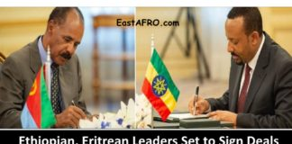 Ethiopian, Eritrean Leaders Set to Sign Detail Deals Photo credit EastAfro