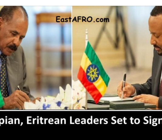 Ethiopian, Eritrean Leaders Set to Sign Detail Deals Photo credit EastAfro