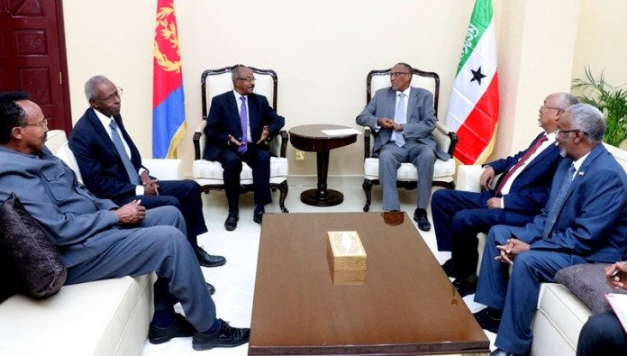 Somaliland President receives Eritrean delegation Led by Foreign Minister Osman Saleh