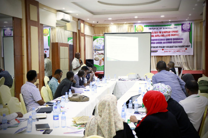 Somaliland CSC and MESAF Opens Workshop for the National Employment Policy