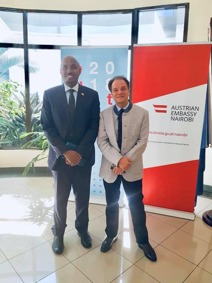 Somaliland Represetative Meets with Austrian Ambassador to Kenya
