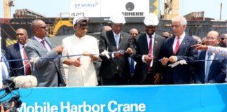 Somaliland President Muse Bihi Abdi Inaugurates Three Mobile Harbor Cranes At Berbera Port