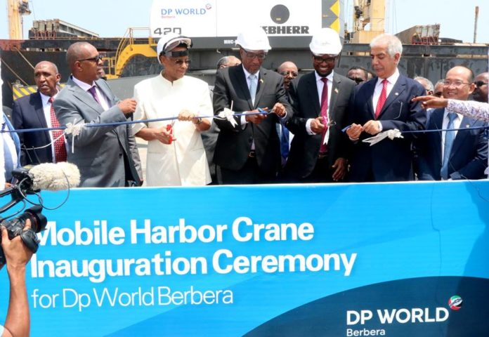 Somaliland President Muse Bihi Abdi Inaugurates Three Mobile Harbor Cranes At Berbera Port