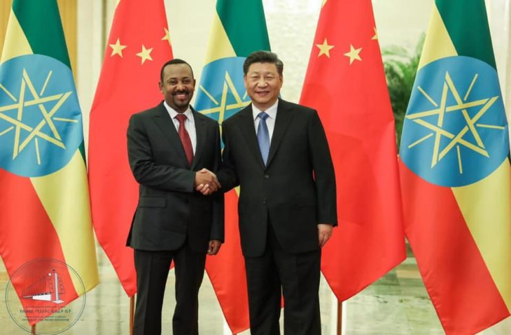 Chinese President Xi meets Ethiopian prime minister Abiy Ahmed