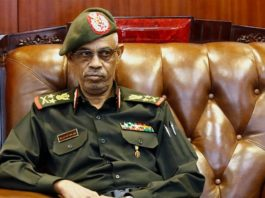 """Sudan's General Awad Ibn Auf said he was stepping down for the """"benefit of our nation"""" [File: Ashraf Shazly/AFP]"""