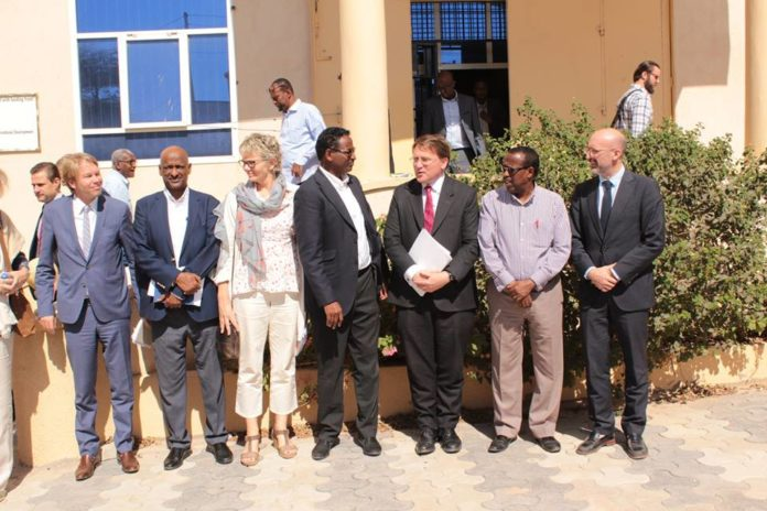 The EU delegation meets with Somaliland National Electoral Commission ( NEC ) at electoral commision