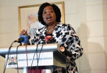 Foreign Affairs Cabinet Secretary Monica Juma addresses journalists at Intercontinental hotel in Nairobi on February 21, 2019. The ministry is exploring diplomatic ties with Somaliland. PHOTO | FILE | NATION MEDIA GROUP
