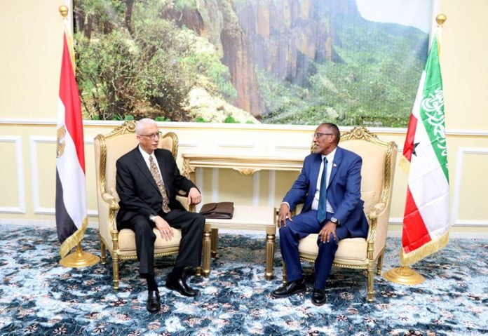 Somaliland President Muse Bihi Abdi received in his office Egypt led by Deputy Foreign Minister for African Affairs, Ambassador Hamdi Sanad Loza