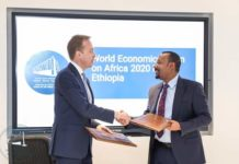Ethiopia PM Abiy Meets President of the World Economic Forum