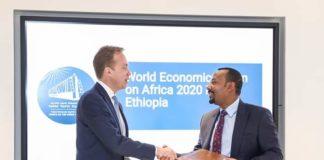 Ethiopia PM Abiy Meets President of the World Economic Forum