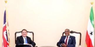 Somaliland President Receives UK Ambassador to Somalia Ben Fender