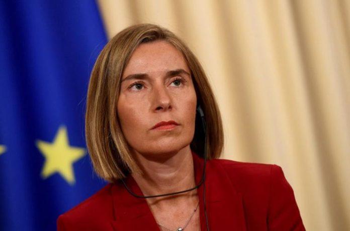 EU's Federica Mogherini Arrives in Mogadishu