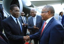 Equatorial Guinea's president arrives in Addisababa for State visit