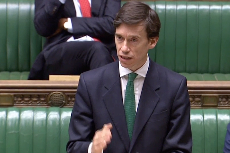 Rory Stewart UK Secretary of State for International Development