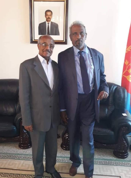 Somaliland Special Envoy to the UN and other international organizations Dr Duale and Eritrea Foreign minister Osman Saleh Credi Geeska