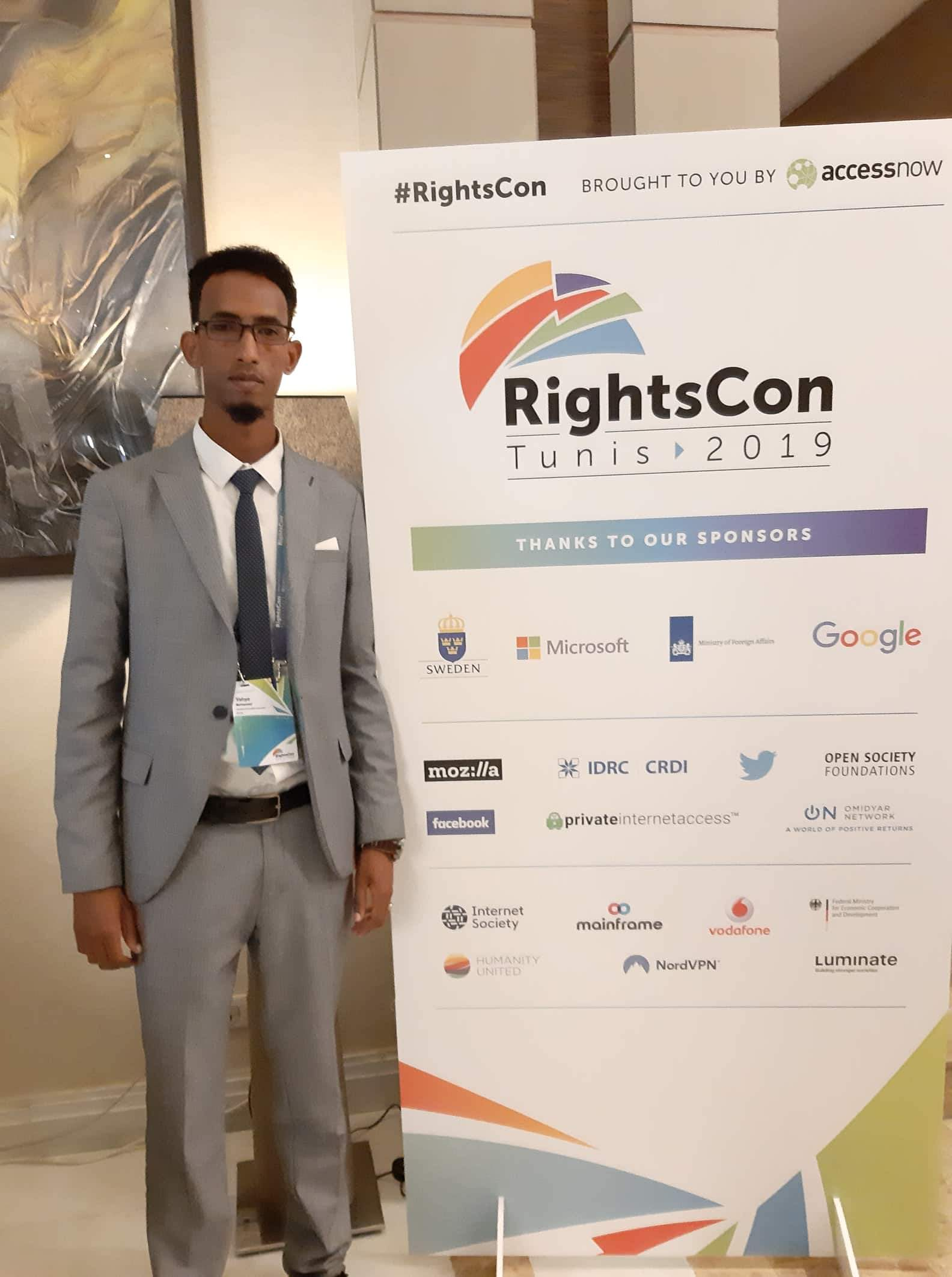 Somaliland Journalists Association Executive Director Mr. Yahye Mohamed attends the Rights Conference