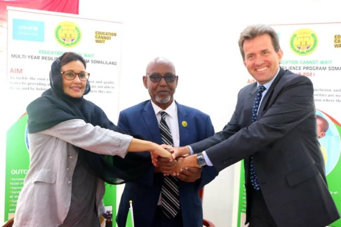 Education Cannot Wait and Unicef launches a $6.7 million multi-year programme to boost education opportunities for children and youths in Somaliland