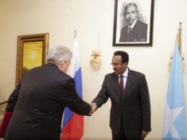 President Farmajo has received credentials from the newly appointed Russian ambassador to Somalia on July 11.
