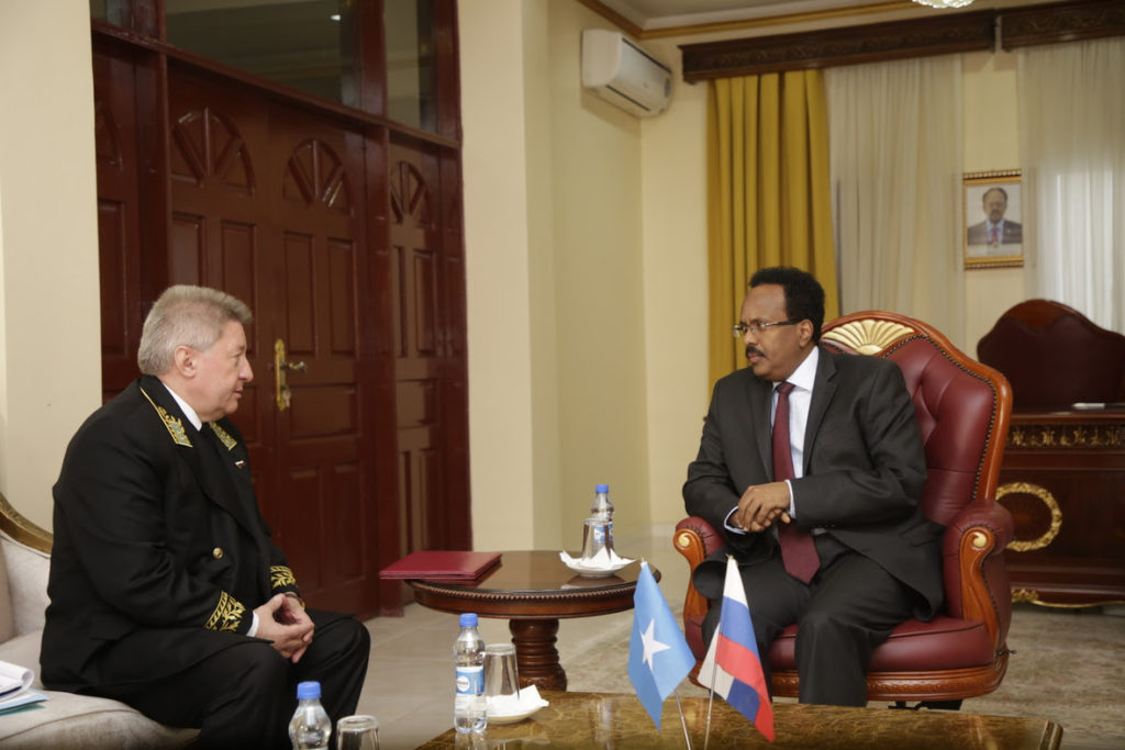 President Farmajo and the Russian ambassador have discussed the relationship between the two countries and enhancing co-operation between the two countries.