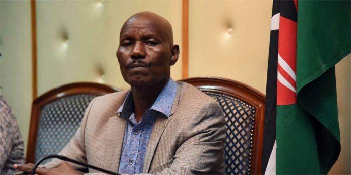 Kenyan Ambassador to Somalia Lucas Tumbo. PHOTO | EVANS HABIL | NMG