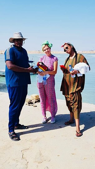 The UK is among a handful of nations who have diplomatic relations with Somaliland, which broke away from neighbouring Somalia in 1991. But crucially, the US – which backs Somalia – does not. Pictured: Miss Symonds during her visit to Somaliland
