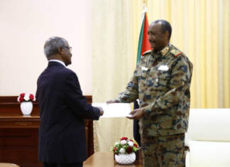 Eritrean Delegation Met Sudan's New PM and President of Sovereign Council