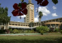 FILE - A view of the Kenyan parliament building in Nairobi.