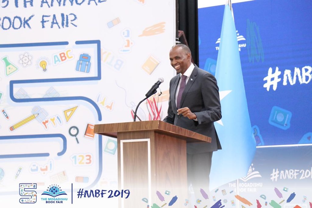 Somali Prime Minister Hassan Ali Khaire concludes the fifth of Mogadishu BookFair