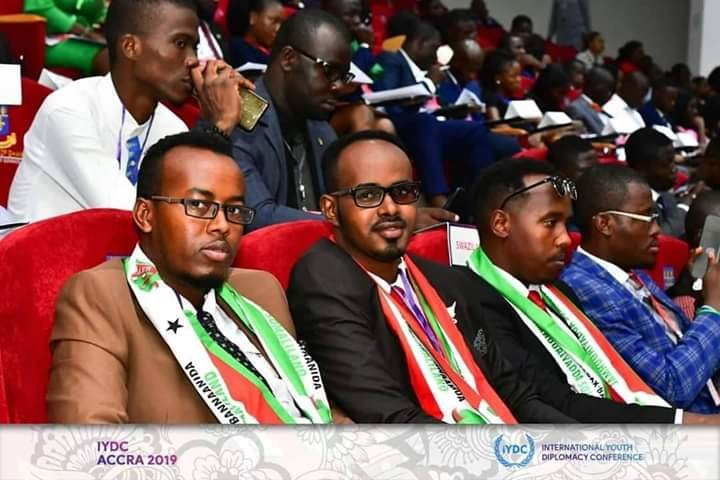 Abdiaziz Harun Mohamed, the head of MFAIC's Diplomatic Institute, Sa'ad Mohamed Abdi, Head of the African Affairs Desk, and Nasri Yousuf Mohumed, Deputy Director of Ministry's Political Department and Head of Diplomatic Missions