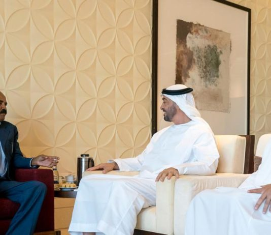 Eritrean President holds talks with Abu Dhabi Crown Prince