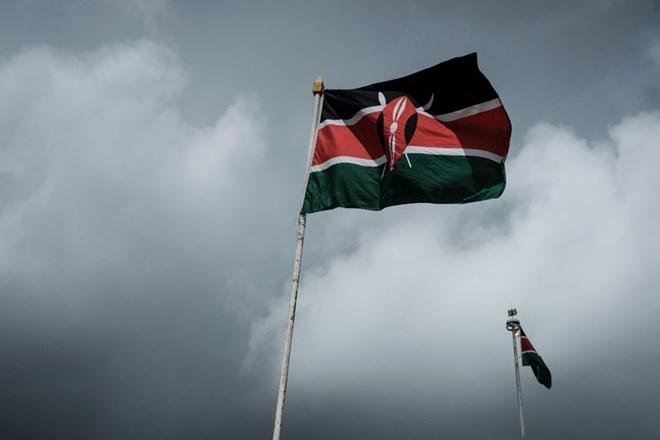 Kenya's national flag flies in Nairobi. Photographer: YASUYOSHI CHIBA/AFP