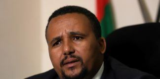 Jawar Mohammed, an Oromo activist and leader of the Oromo protest speaks during a Reuters interview at his house in Addis Ababa, Ethiopia, Oct. 23, 2019.