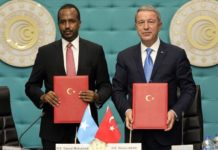Turkey and Somalia signed an Economic Partnership Protocol yesterday in Ankara.